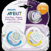 Bild: PHILIPS AVENT Schnuller Freeflow Fashion 6-18M Boys
