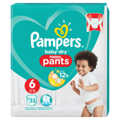 Bild: Pampers Baby-Dry Nappy Pants Gr. 6 (15+ kg) Value Pack