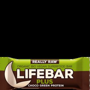 Bild: Lifebar Plus Chocolate Green Protein