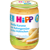Bild: HiPP Weiße Karotte mit Rahmgemüse und Bio-Hühnchen