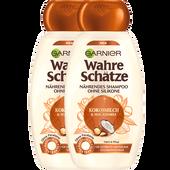 Bild: GARNIER Garnier Wahre Schätze Shampoo Kokosmilch & Macadamia Doppelpack