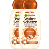 Bild: GARNIER Wahre Schätze Shampoo Kokosmilch & Macadamia Doppelpack
