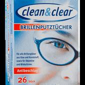 Bild: Clean & Clear Brillenputztücher