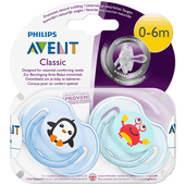 Bild: PHILIPS AVENT Schnuller Klassik Sea 0-6M 2er Pack Boys