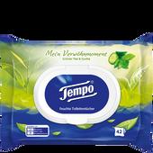 Bild: Tempo Feuchte Toilettentcher  Mein Verwöhnmoment Grüner Tee & Gurke
