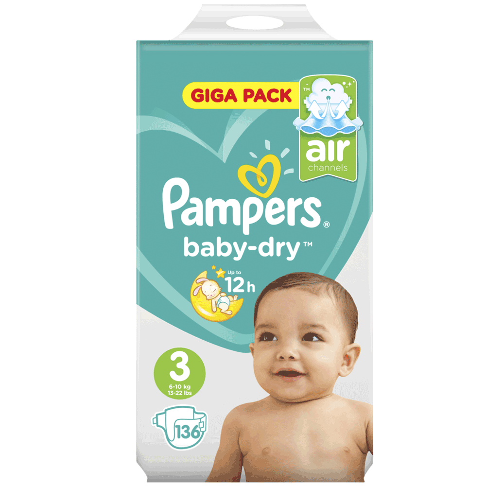 23 Windeln 1 Packung Pampers Baby Dry Air Windeln Größe 7