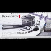 Bild: Remington Pro-Ceramic Titanium Haarglätter Geschenkset