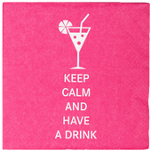 Bild: Servietten Keep calm and have a drink