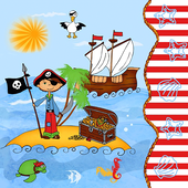 Bild: PAPSTAR Servietten Pirate Island
