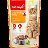 Bild: ZooRoyal Gourmet Menü mit Pute in Käsesauce