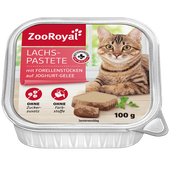 Bild: ZooRoyal Lachs-Pastete mit Forellenstücken auf Joghurt-Gelee