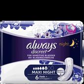 Bild: always discreet Binde Maxi Night