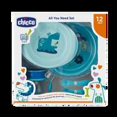 Bild: Chicco Geschenkset Mahlzeit 12M+ blau