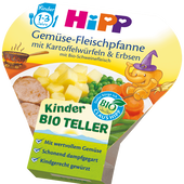 Bild: HiPP Gemüse-Fleischpfanne mit Kartoffelwürfeln & Erbsen mit Bio-Schweinefleisch
