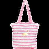 Bild: LOOK BY BIPA Tasche Flamingo rosa gestreift