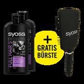 Bild: syoss PROFESSIONAL Full Hair 5 Shampoo mit gratis Bürste