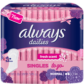 Bild: always dailies Slipeinlagen singles to go