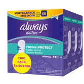 Bild: always Fresh & Protect Slipeinlagen Normal Trio Pack