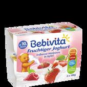 Bild: Bebivita Fruchtiger Joghurt Erdbeere-Himbeere in Apfel