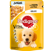 Bild: Pedigree Junior Huhn und Reis Gelee