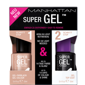 Bild: MANHATTAN Duo Pack Super Gel Nail Polish + Top Coat mauvelicious