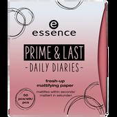 Bild: essence Prime & Last Fresh-up Mattifying Paper