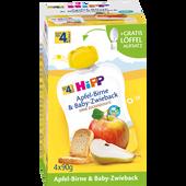 Bild: HiPP Apfel-Birne & Baby-Zwieback