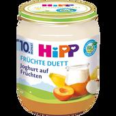 Bild: HiPP Früchte Duett Joghurt auf Früchten