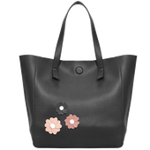 Bild: LOOK BY BIPA Shopper Blumen schwarz/rosa