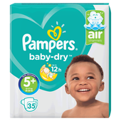 Bild: Pampers Baby-Dry Gr. 5+ (12-17kg) Value Pack