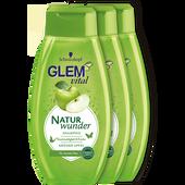 Bild: Schwarzkopf GLEM vital Naturwunder Shampoo Apfel Trio