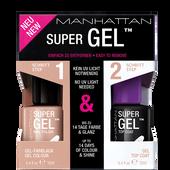 Bild: MANHATTAN Duo Pack Super Gel Nail Polish + Top Coat mauvelicious
