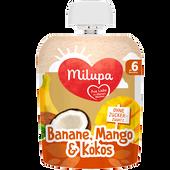 Bild: Milupa Quetschbeutel Banane, Mango & Kokos