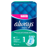 Bild: always MAXI Protection & Comfort Binde normal mit Flügeln