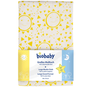 Bild: biobaby Großes Mulltuch Sonne