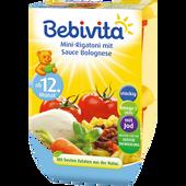 Bild: Bebivita Mini-Rigatoni mit Sauce Bolognese