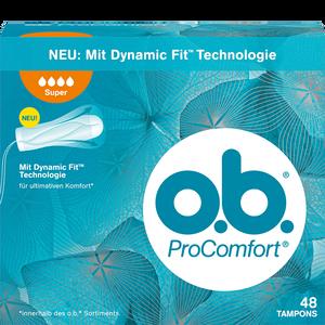 Bild: o.b. ProComfort Tampons super