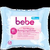 Bild: bebe 5 in 1 Pflegende Reinigungstücher Miniformat
