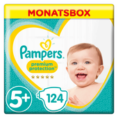 Bild: Pampers Premium Protection Gr.5+ Junior Plus12-17kg Monatsbox