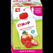 Bild: HiPP Apfel & Erdbeere Quetschbeutel