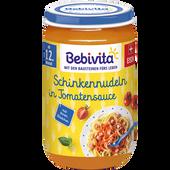 Bild: Bebivita Schinkennudeln in Tomatensauce