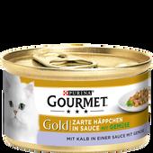 Bild: GOURMET Gold Zarte Häppchen Kalb in einer Sauce mit Gemüse