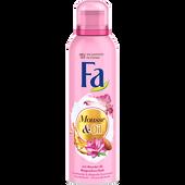 Bild: Fa Mousse & Oil mit Mandel-Öl Magnolien Duschschaum