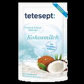 Bild: tetesept: Creme & Schaum Badesalz Kokosmilch
