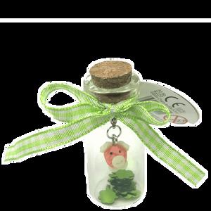 Bild: Glücksschwein in Flasche