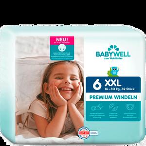 Bild: BABYWELL Premium-Windeln XXL Gr. 6