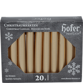 Bild: Hofer Christbaumkerzen silver-gold
