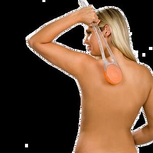 Bild: hydas Rücken-Cremer mit transparentem Griff/ Aufsatz orange