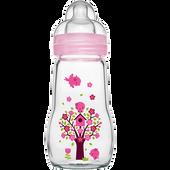 Bild: MAM Feel Good 260ml - Babyflasche aus Glas Rosa