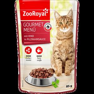 Bild: ZooRoyal Gourmet Menü mit Rind in Pilzrahmsauce